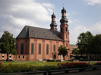 St. Peter's Church, Mainz - General view via Ernst-Ludwig-Platz to the north-west-façade