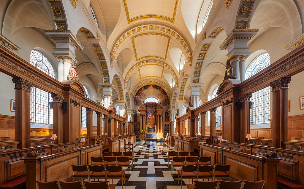 > Eglise de Saint Bride à Londres - Photo de David Iliff