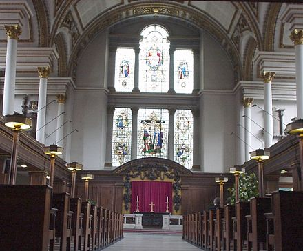 The Church interior on Easter Sunday 2016 St James Church Piccadilly Interior.jpg