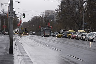 St Kilda Road, Melbourne - The beginning of St Kilda Road from the Princes Bridge