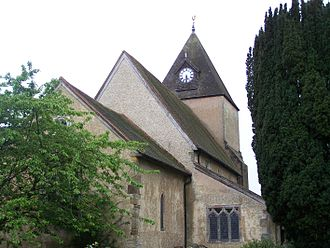 Ifield, West Sussex - St Margaret's Church, Ifield. Buried here are Mark Lemon and the family of Denzil Holles