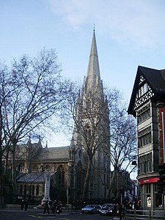 St Mary Abbots Church in London