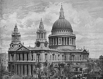 St Paul's Cathedral - St Paul's Cathedral in 1896