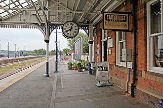 Stalybridge railway station - Stalybridge Buffet Bar on platform 4.