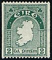 Stamp-Irl 1935 2d coil 15ximperf - IW auction lot 397 May 2015.jpg