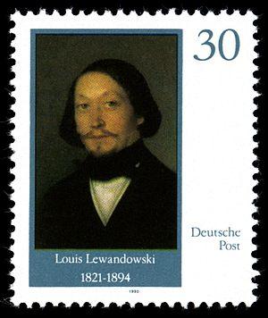 Louis Lewandowski - Postage stamp showing Louis Lewandowski.