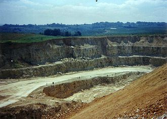 Kentish ragstone - Stangate Quarry, Borough Green, in the 1970s just before quarrying was stopped.