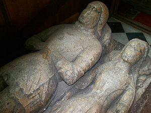 Church of St Peter and St Paul, Ormskirk - Two of the effigies in the church