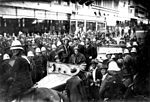 StateLibQld 2 145503 People lined up along a Brisbane street to see Sir Charles Kingsford Smith, 1928.jpg