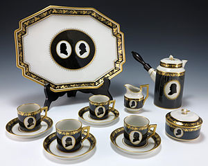Denmark–United States relations - A Royal Copenhagen Porcelain Colonial Coffee service gifted to American President Gerald Ford by Queen Margrethe II and Prince Henrik of Denmark.