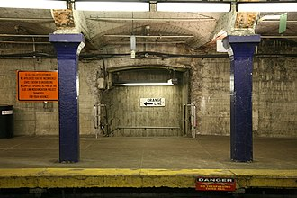 Blue Line (MBTA) - Blue Line level at State station undergoing major renovation in 2007