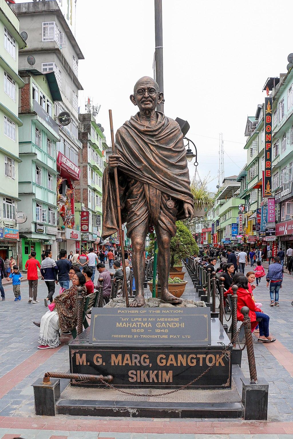 Statue of Mahatma Gandhi in Gangtok