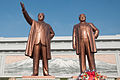 Statues of Kim Il-Sung and Kim Jong-Il on Mansudae Hill.jpg