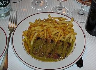 L'Entrecôte - Steak-frites as served by Le Relais de l'Entrecôte in Geneva