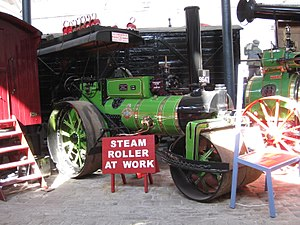 Bury Transport Museum - Image: Steam Roller Hilda, Thomas Green, Bury April 2017