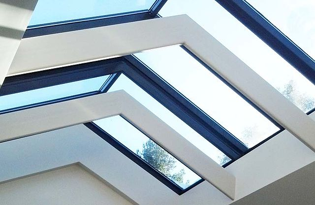 File steel and glass skylight with architectural detail for Architectural skylight