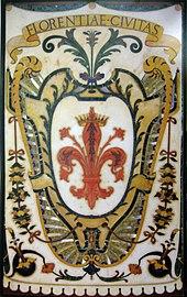 Mosaico dello stemma di Firenze, dalla cappella dei Principi.