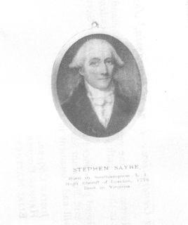 Stephen Sayre American revolutionary