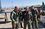 Steve Pearce talks with US Air Force (USAF) Brigadier General (BGEN) James Hunt.jpg