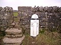 Stile and Milestone - geograph.org.uk - 104936.jpg