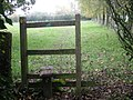 Stile on a path beside Pendrell Hall - geograph.org.uk - 1036213.jpg