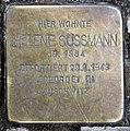 Stolperstein Ahrweilerstr 32 (Wilmd) Helene Süssmann.jpg