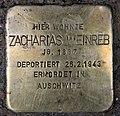 Stolperstein Hohenstaufenstr 50 (Schön) Zacharias Weinreb.jpg