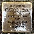 Stolperstein Karlsruhe Friedrich Moos Gartenstr 5 (fcm).jpg