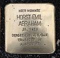 Stolperstein Schöneberger Str 15 (Stegl) Horst Emil Abraham.jpg