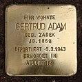 Stolperstein Uhlandstr 151 (Wilmd) Gertrud Adam.jpg