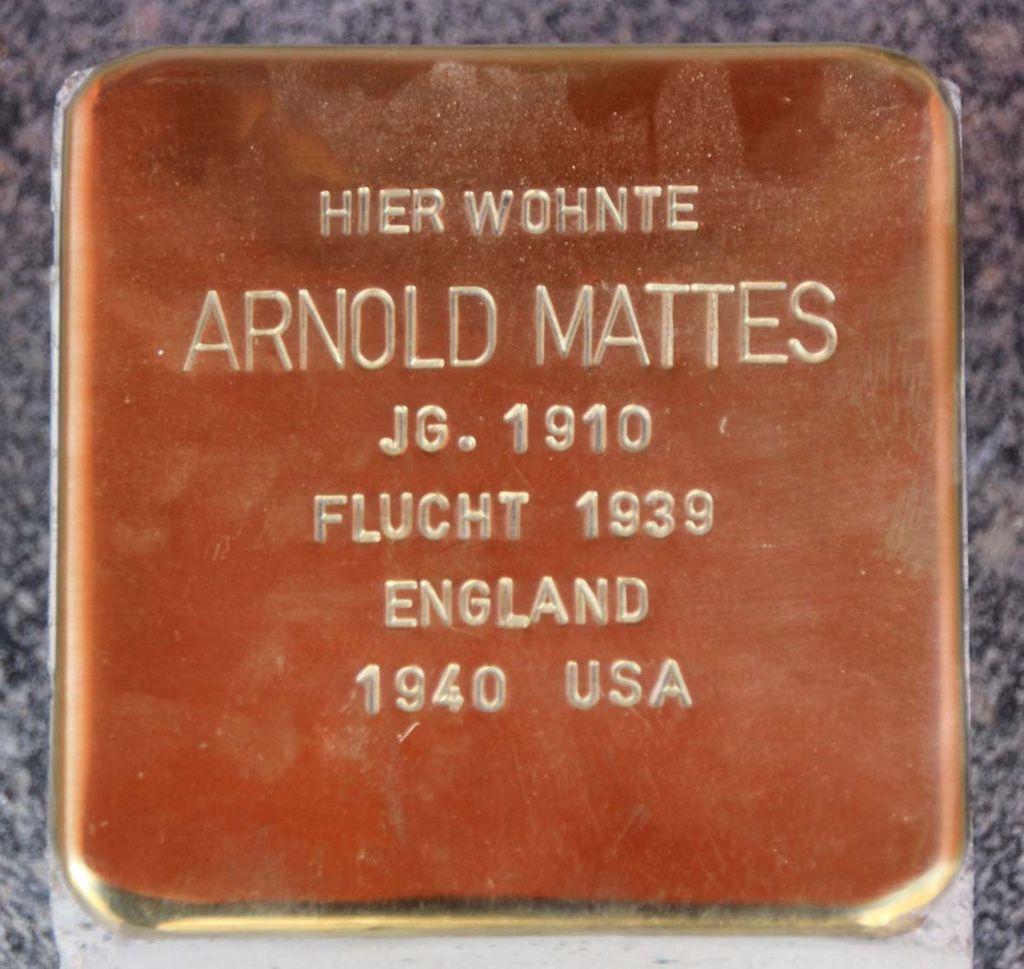 Stolperstein für Arnold Mattes