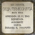 Stolperstein für Giulia Formiggini Foa (Padua).jpg
