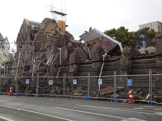 Canterbury Provincial Council Buildings - The Stone Chamber collapsed in the February 2011 Christchurch earthquake