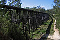 Stony Creek Trestle Bridge Looking East near Nowa Nowa, Vic, 21.3.2009.jpg
