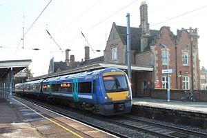 Stowmarket railway station - Image: Stowmarket Greater Anglia 170203 Peterborough train
