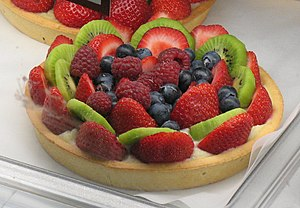 Tart - Strawberry, kiwi and blueberry tart