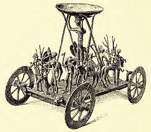 Strettweg Cult Wagon -  Cult Wagon of Strettweg as depicted in 1886 Jahrbuch des Kaiserlich Deutschen Archäologischen Instituts.