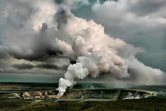 Fumarole - A fumarole at Halema`uma`u crater