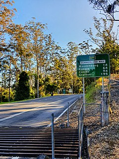 Summerland Way highway in New South Wales