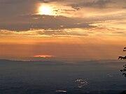 Sunset at Mount Dajti