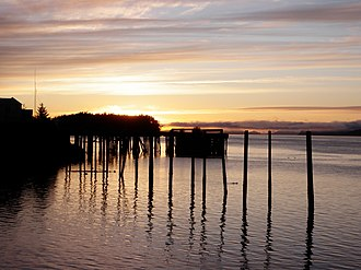 Orca Inlet - Image: Sunset on the old wharf