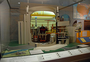 Superphénix - A cut-away model of the Superphenix containment.  From the National Atomic Museum, United State