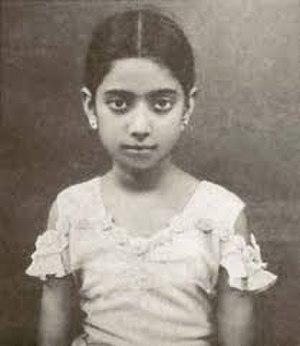 Suraiya - Suraiya as a child of six years in 1935