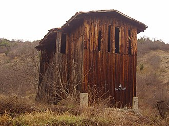 Church of Saint Theodore, Boboshevo - The wooden structure in which the church is wrapped.