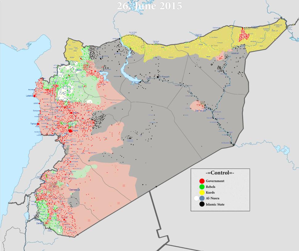 Syrian civil war 26 06 2015
