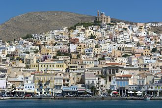 Cyclades - Ermoupoli, capital of the Cyclades. Syros