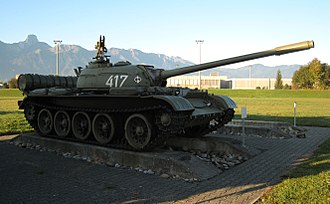 T-54/T-55 operators and variants - Ex-Polish T-54A at the Panzermuseum Thun in Thun, Switzerland.