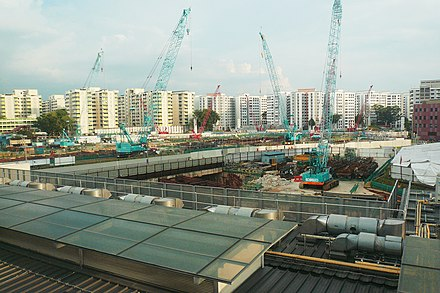 The construction of the TEL at Woodlands station. TE2 Woodlands MRT Under Construction.jpg