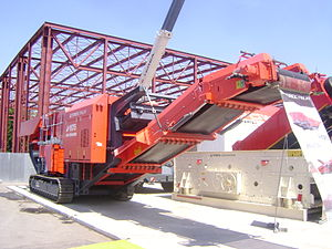 English: TEREX FINLAY J-1175 single toggle Jaw...