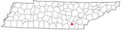 Location of Soddy-Daisy, Tennessee